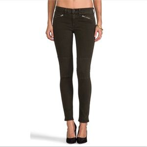 Rag & Bone Ridley Moto Black Zipper Jeans Sz 24